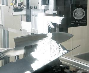Test noży global na maszynie CATRA